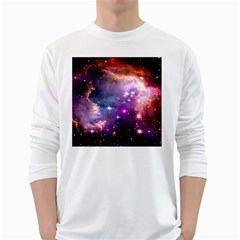 Deep Space Dream White Long Sleeve T Shirts