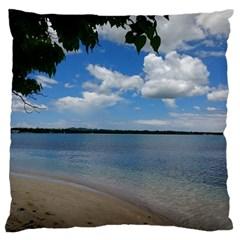 Isla Puerto Rico Large Flano Cushion Case (one Side)
