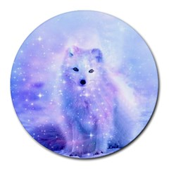 Arctic Iceland Fox Round Mousepads