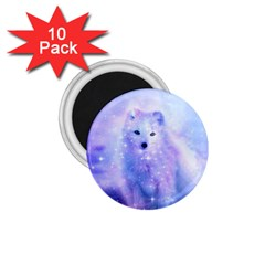 Arctic Iceland Fox 1 75  Magnets (10 Pack)