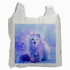 Arctic Iceland Fox Recycle Bag (one Side)