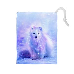 Arctic Iceland Fox Drawstring Pouches (large)