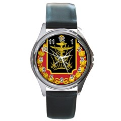 Logo Of Imperial Iranian Ministry Of War Round Metal Watch