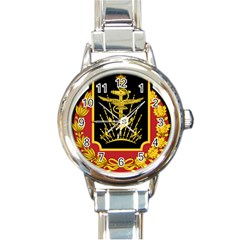 Logo Of Imperial Iranian Ministry Of War Round Italian Charm Watch