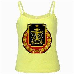 Logo Of Imperial Iranian Ministry Of War Yellow Spaghetti Tank