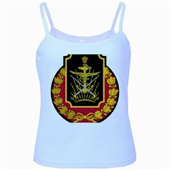 Logo Of Imperial Iranian Ministry Of War Baby Blue Spaghetti Tank