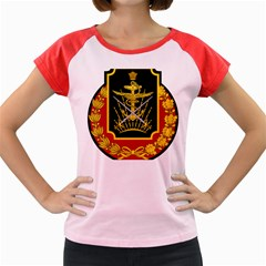 Logo Of Imperial Iranian Ministry Of War Women s Cap Sleeve T Shirt