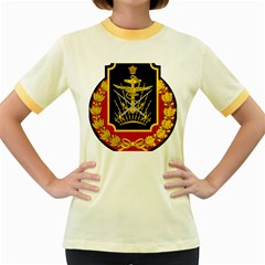 Logo Of Imperial Iranian Ministry Of War Women s Fitted Ringer T Shirts