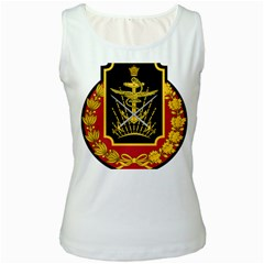 Logo Of Imperial Iranian Ministry Of War Women s White Tank Top