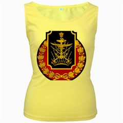Logo Of Imperial Iranian Ministry Of War Women s Yellow Tank Top