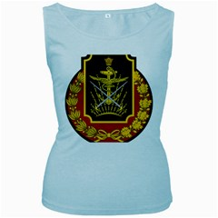 Logo Of Imperial Iranian Ministry Of War Women s Baby Blue Tank Top