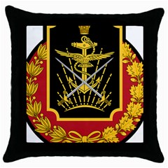 Logo Of Imperial Iranian Ministry Of War Throw Pillow Case (black)