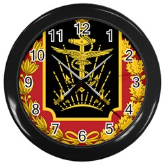 Logo Of Imperial Iranian Ministry Of War Wall Clocks (black)