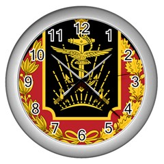 Logo Of Imperial Iranian Ministry Of War Wall Clocks (silver)