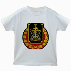 Logo Of Imperial Iranian Ministry Of War Kids White T Shirts
