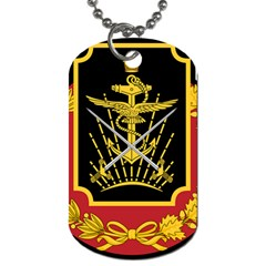 Logo Of Imperial Iranian Ministry Of War Dog Tag (two Sides)