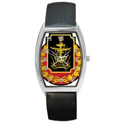 Logo Of Imperial Iranian Ministry Of War Barrel Style Metal Watch