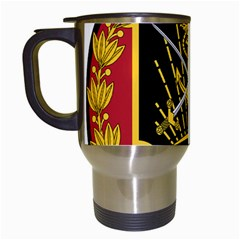 Logo Of Imperial Iranian Ministry Of War Travel Mugs (white)