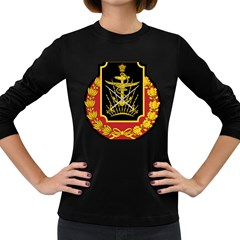 Logo Of Imperial Iranian Ministry Of War Women s Long Sleeve Dark T Shirts