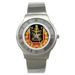 Logo Of Imperial Iranian Ministry Of War Stainless Steel Watch