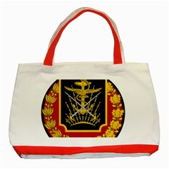 Logo Of Imperial Iranian Ministry Of War Classic Tote Bag (red)
