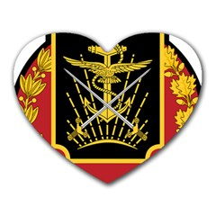 Logo Of Imperial Iranian Ministry Of War Heart Mousepads