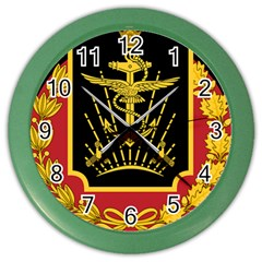 Logo Of Imperial Iranian Ministry Of War Color Wall Clocks