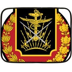 Logo Of Imperial Iranian Ministry Of War Fleece Blanket (mini)