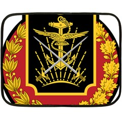 Logo Of Imperial Iranian Ministry Of War Double Sided Fleece Blanket (mini)