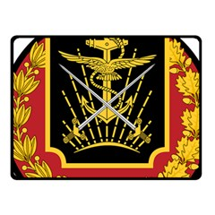 Logo Of Imperial Iranian Ministry Of War Fleece Blanket (small)