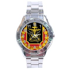 Logo Of Imperial Iranian Ministry Of War Stainless Steel Analogue Watch