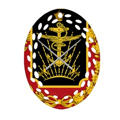 Logo Of Imperial Iranian Ministry Of War Oval Filigree Ornament (two Sides)