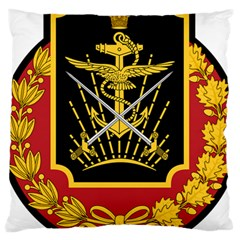 Logo Of Imperial Iranian Ministry Of War Large Cushion Case (one Side)
