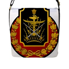 Logo Of Imperial Iranian Ministry Of War Flap Messenger Bag (l)