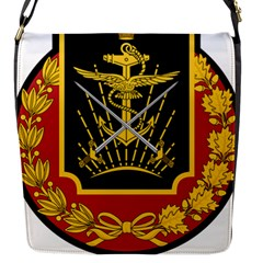 Logo Of Imperial Iranian Ministry Of War Flap Messenger Bag (s)