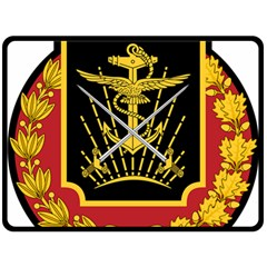 Logo Of Imperial Iranian Ministry Of War Double Sided Fleece Blanket (large)