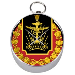 Logo Of Imperial Iranian Ministry Of War Silver Compasses