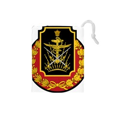 Logo Of Imperial Iranian Ministry Of War Drawstring Pouches (small)