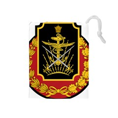 Logo Of Imperial Iranian Ministry Of War Drawstring Pouches (medium)