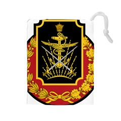 Logo Of Imperial Iranian Ministry Of War Drawstring Pouches (large)