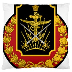 Logo Of Imperial Iranian Ministry Of War Large Flano Cushion Case (two Sides)