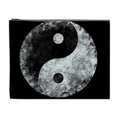 Grunge Yin Yang Cosmetic Bag (xl)