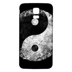 Grunge Yin Yang Samsung Galaxy S5 Back Case (white)
