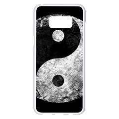 Grunge Yin Yang Samsung Galaxy S8 Plus White Seamless Case
