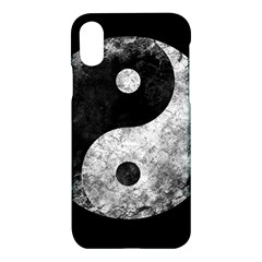 Grunge Yin Yang Apple Iphone X Hardshell Case
