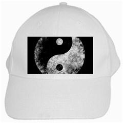 Grunge Yin Yang White Cap