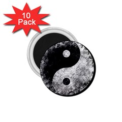 Grunge Yin Yang 1 75  Magnets (10 Pack)