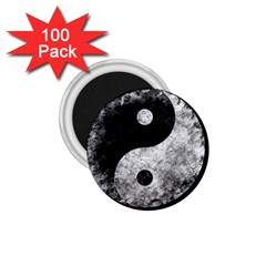 Grunge Yin Yang 1 75  Magnets (100 Pack)
