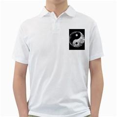 Grunge Yin Yang Golf Shirts