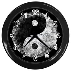 Grunge Yin Yang Wall Clocks (black)